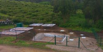 Planta piloto con humedales artificiales para el proyecto Wetwine Tomiño
